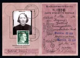 17760-GERMAN EMPIRE-MILITARY German Postal Identity Card.1943.WWII.DEUTSCHES REICH.carte D'identité Postale Allemande. - 1939-45