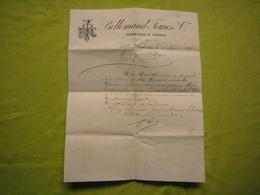 Facture Lettre 1887  Bellemand Fourès & Cie Viticulteurs à Salelles D'Aude - Francia