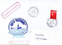 Remorqueur ESTEREL Escale à Cannes Obl. Cannes 30/03/12 - Postmark Collection (Covers)
