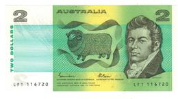 Australia, 2 Dollars , AUNC/UNC. - 1974-94 Australia Reserve Bank (paper Notes)