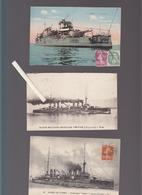 Marine De Guerre / Lot De 5 CP / Le Dreadnoughts Voltaire Cuirassé  à Differentes époques - Guerra