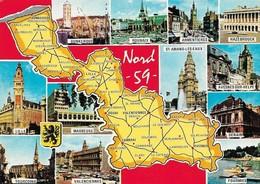 59 Carte Du Département Du Nord (2 Scans) - France
