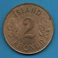 ISLAND 2 KRONUR 1966  KM# 13a - Islande
