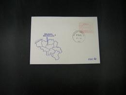 """BELG.1983 ATM54 FDC """"Vignette Affranchissement/Automaatzegels """" - Franking Machines"""