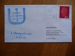 (zw) Schiffpost Shipmail 1. UBOOTGESCHWADER U1 23 KIEL WIK 1968 DEUTSCHE BUNDESPOST. - Boten