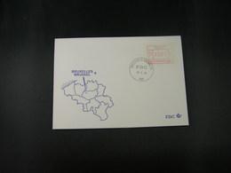 """BELG.1983 ATM55 FDC """"Vignette Affranchissement/Automaatzegels """" - Franking Machines"""