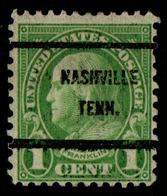 "USA Precancel Vorausentwertung Preo, Locals ""NASHVILLE"" (TENN). - Stati Uniti"