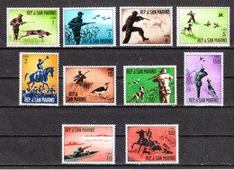 San Marino  -  1962. Caccia Moderna. Modern Hunting. Complete MNH Fresh  Series - Sellos