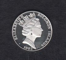 ISLAS SALOMÓN,  AÑO 1992.-   10 DOLARES PLATA OLIMPIADA 1992. - Islas Salomón