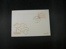 """BELG.1983 ATM48 FDC """"Vignette Affranchissement/Automaatzegels """" - Franking Machines"""