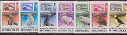 Mongolia 1981 Zeppelin Owl/Birds Eagle Arctic Fox Polar Bear Seal Stamp-on-Stamp - Zeppelin