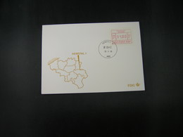 """BELG.1983 ATM41 FDC """"Vignette Affranchissement/Automaatzegels """" - Franking Machines"""