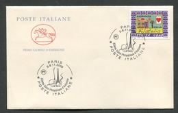 FDC ITALIA 2009 - MANIFESTAZIONE FILATELICA PARIGI PARIS - 567 - 6. 1946-.. Repubblica