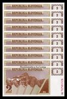 Eslovenia Slovenia Lot Bundle 10 Banknotes 2 Tolar 1990 Pick 2 SC UNC - Eslovenia