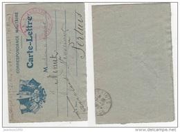 CARTE LETTRE FRANCHISE MILITAIRE CACHET 7eme Section COA BELFORT CIRCULE 1917 - Marcophilie (Lettres)