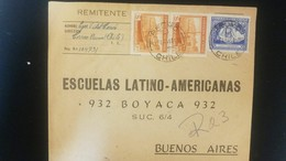 O) 1949 CHILE, FISHING IN CHILOE, FLORA BY CHILE -FLOWER 60c Lilac- ESCUELAS LATINO AMERICANAS, TO BUENOS AIRES - Chile