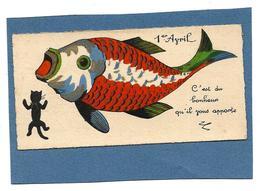 Mignonette 1er AVRIL - C'est Du Bonheur Qu'il Vous Apporte - Chat, Poisson - 1° Aprile (pesce Di Aprile)