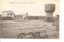 LOIRE ST GERMAIN LAVAL LA GARE ET LE RESERVOIR D'EAU NON ECRITE - Saint Germain Laval