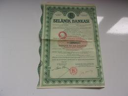 SELANIK BANKASI   Banque De Salonique (istanbul TURQUIE) - Actions & Titres
