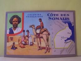 COTE DES SOMALIS. CARTE GEOGRAPHIQUE. - Somalie