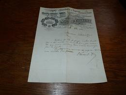 FF6  Document Commercial Facture Distillerie à Vapeur Victor Laurent Bruxelles 1902 - Belgique