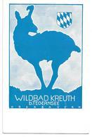 3081q: Werbe- AK Wildbad Kreuth B. Tegernsee, Gams, Ungelaufen Ca. 1960 - Tegernsee
