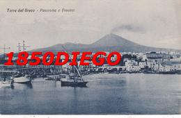 TORRE DEL GRECO - PANORAMA E VESUVIO F/PICCOLO VIAGGIATA ANIMATA - Torre Del Greco