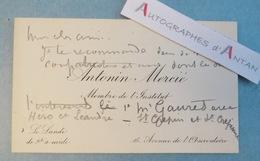 CDV Autographe Antonin MERCIE Peintre Sculpteur - Jean-Paul Laurens - Jésus - Né à Toulouse - Autographes