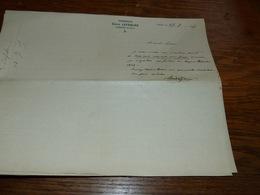 FF6  Document Commercial Facture Pharmacie Emile Lefebure Lombise 1905 - Belgique