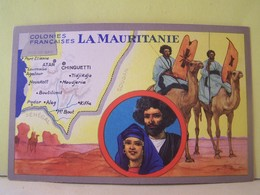LA MAURITANIE. CARTE GEOGRAPHIQUE. - Mauritanie