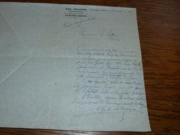 FF6  Document Commercial Facture Pharmacie Alph Lelièvre Ecaussinnes Carrières 1905 Reprise Pharm. Aulnois - Belgique