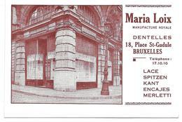 3081l: AK Maria Loix, Dentelles, 18, Place St. Gudule, RR - Ambachten