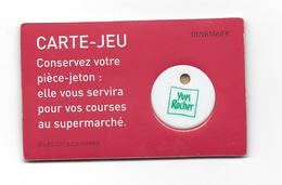 Carte-Jeu Avec Jeton De Caddie YVES ROCHER (rare Blanc) - Einkaufswagen-Chips (EKW)