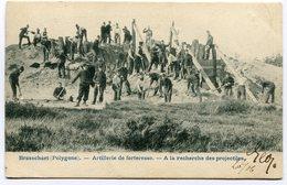 CPA - Carte Postale - Belgique - Brasschaet - Artillerie De Forteresse - A La Recherche De Projectiles - 1906 (B8851) - Brasschaat