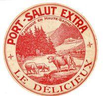 Etiquette De Fromage Port SALUT  EXTRA  LE DELICIEUX  Fabriqué En Haute Saone   Grand Format - Formaggio