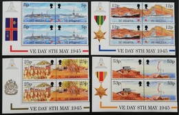 St Helena 1995 End Of War World II,50th. Anniv Corner Pair - Stamps