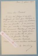 L.A.S 1890 Antonin MERCIE Peintre Sculpteur - Monument BAUDRY - Lettre Autographe - Né à Toulouse - Autographes