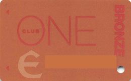 Slotcard / Casinokarte / Playerscard - CLUB ONE BRONZE - Reno, NV (USA) - Casinokarten