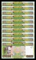 Guinea Lot Bundle 10 Banknotes 500 Francs 2015 Pick 47 SC UNC - Guinea