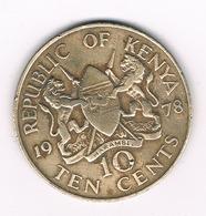 10  CENTS  1978 KENIA /4659// - Kenya