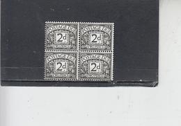 GRAN BRETAGNA  1968-9 -  Unificato 66a (quartina) - Tasse - Tasse