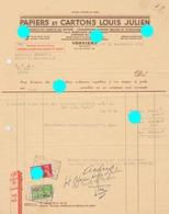 VERVIERS  Papiers Cartons CHARLES DEGEN  ( Anc. Louis Julien ) - Belgique