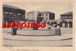 TRESIGALLO - PIAZZA DELLA RIVOLUZIONE E FONTANA F/GRANDE VIAGGIATA 1941 ANIMATA - Ferrara