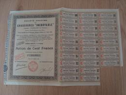 ACTION DE CENT FRANCS CHAUSSURES INCROYABLE - Textile