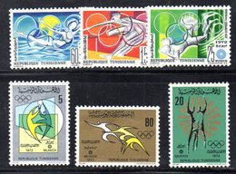 XP4073 - TUNISIA 1972 ,  La Serie  Emessa Per Le Olimpiadi Di Monaco  *** MNH - Tunisia (1956-...)