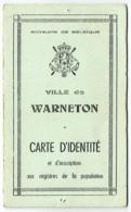 Belgique. Carte Identité. Warneton 1943. Jean Jules Lorthioir Né En 1922. - Documents Historiques
