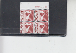 GRAN BRETAGNA  1974-5 -  Unificato 84 (quartina) - Tasse - Tasse
