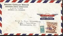J) 1951 NICARAGUA, MODERN NATIONAL STADIUM, X WORLD SERIES AMATEUR BASEBALL, ON OSTAL RATE NATIONAL STADIUM PROCESS, AIR - Nicaragua