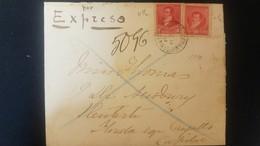 O) 1895 CIRCA - ARGENTINA, DIPLOMATIC MAIL EXPRESS - EXPRESO, RIVADAVIA SCT 96 5c, BELGRANO SCT 98 10c, XF - Argentina