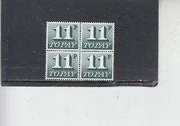 GRAN BRETAGNA  1974-5 -  Unificato 85 (quartina) - Tasse - Tasse